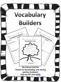 Vocabulary Builders--Word Study Sheets