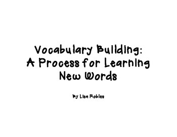 Vocabulary Building: A Process for Learning New Words