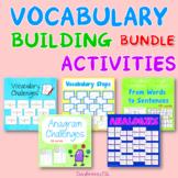 Vocabulary Building Activities   BUNDLE