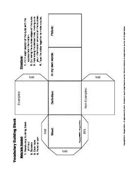 Vocabulary Building Block