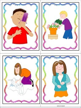 ESL Activity: Verb Vocabulary and Conversation Cards- ELL Newcomers Too