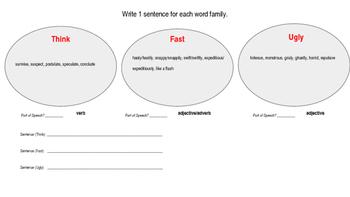 Vocabulary Building (Categorization Exercises)