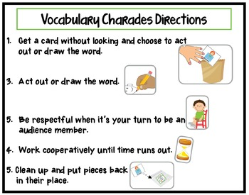 Vocabulary Building Charades for Early Childhood