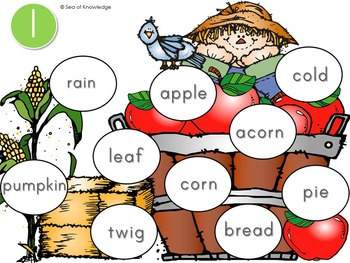 Vocabulary Building {Cookin' Up Vocabulary - An Interactive Game - Fall Themed}