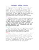 Vocabulary Building Exercises