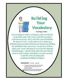 Vocabulary Building Game