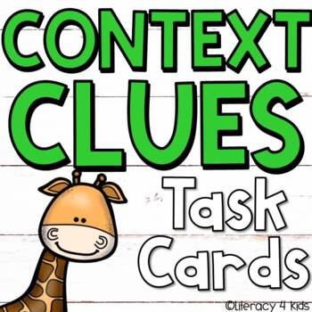 Context Clues Task Cards (Animal Themed) for Grades 3-5