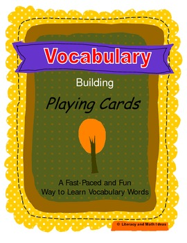Vocabulary Building Playing Cards