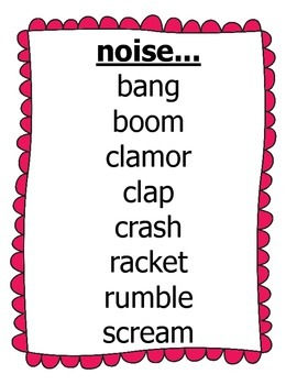 Vocabulary Building Poster Pack