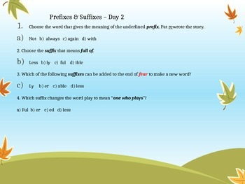 Vocabulary Building - Powerpoint 3