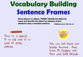 Vocabulary Building Sentence Frames-ELD Strategies in Action!