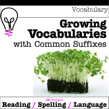Vocabulary Building Study Morphology Suffixes Graphic Organizers Tables Help