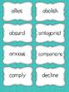Vocabulary Building Task Cards