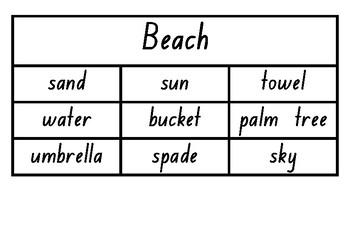 Vocabulary Building - beach