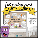 Vocabulary Bulletin Board / Door Decor for Speech or ELA: Voca-brew-lary Theme