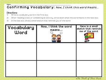 Vocabulary Pack