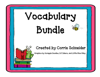 Vocabulary Bundle (Back to School)