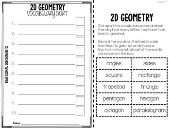 Content Vocabulary Word Work for Math, Science, & Social Studies