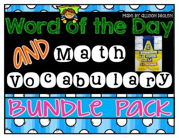 Vocabulary Bundle Pack