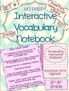 Vocabulary-Bundle-READY TO EDIT-Instruction, Activities, and Assessments