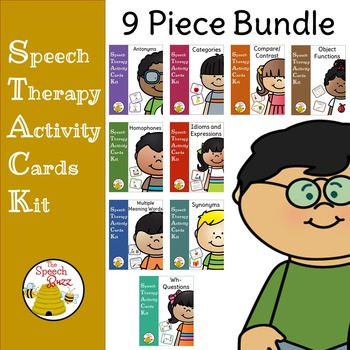 Vocabulary Bundle - Speech Therapy Activity Cards Kit (STACK)