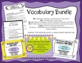 Vocabulary Bundle Task Cards and Activities: SAVE 25%
