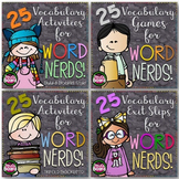 Vocabulary Activities Bundle | Trifolds, Games, Booklets,
