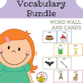 Vocabulary Bundle Word Wall and Cards