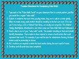 Vocabulary Cake Walk Cards