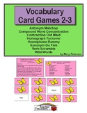 Vocabulary Card Games 2-3