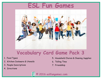 Vocabulary Card Games Pack 3 Game Bundle