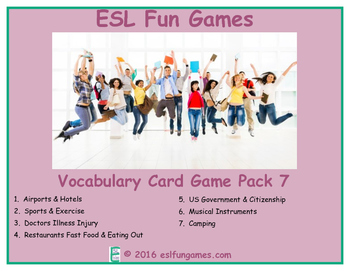 Vocabulary Card Games Pack 7 Game Bundle