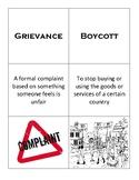 Vocabulary Card Sort: The American Revolution