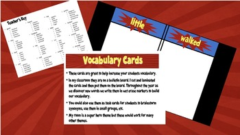 Vocabulary Cards/Bulletin Boards