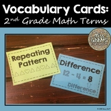 Vocabulary Cards: 2nd Grade Math Terms
