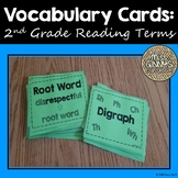 Vocabulary Cards: 2nd Grade Reading Terms