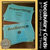 Vocabulary Cards: 2nd Grade Writing Terms