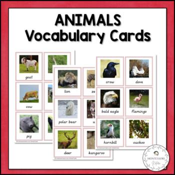 Vocabulary Cards - Animals - Montessori Toddler Printables