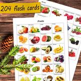 204 Vocabulary Flash Cards Bundle - food flashcards fruit,