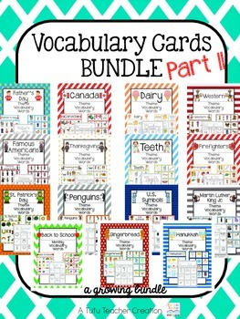 Vocabulary Cards Bundle Part II