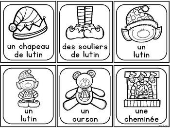 Vocabulary Cards-Christmas FR