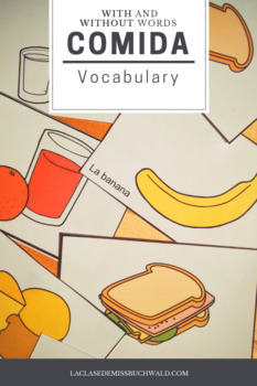 Vocabulary Cards: Comida