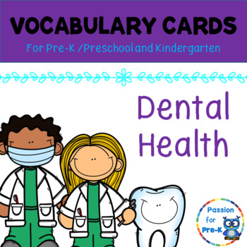 Vocabulary-Word Wall Cards - Dental Health