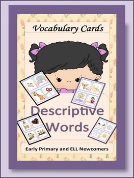 ESL Resources: Vocabulary Descriptive Words and Conversation Cards