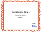 Vocabulary Cards Eureka Math  Grade 3 Module 1