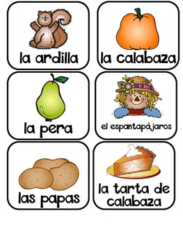 Vocabulary Cards, Journal Prompts, and Writing Activities In Spanish {November}