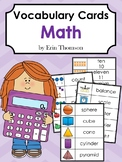 Editable Vocabulary Cards ~ Math