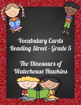 Vocabulary Cards - Reading Street - Dinosaurs of Waterhouse Hawkins