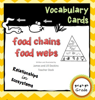 Vocabulary Cards Relationships in Ecosystems Set 2