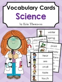 Editable Vocabulary Cards ~ Science